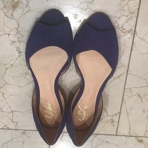 lillybee Shoes - Lillybee designer Goldie in purple flats with bag